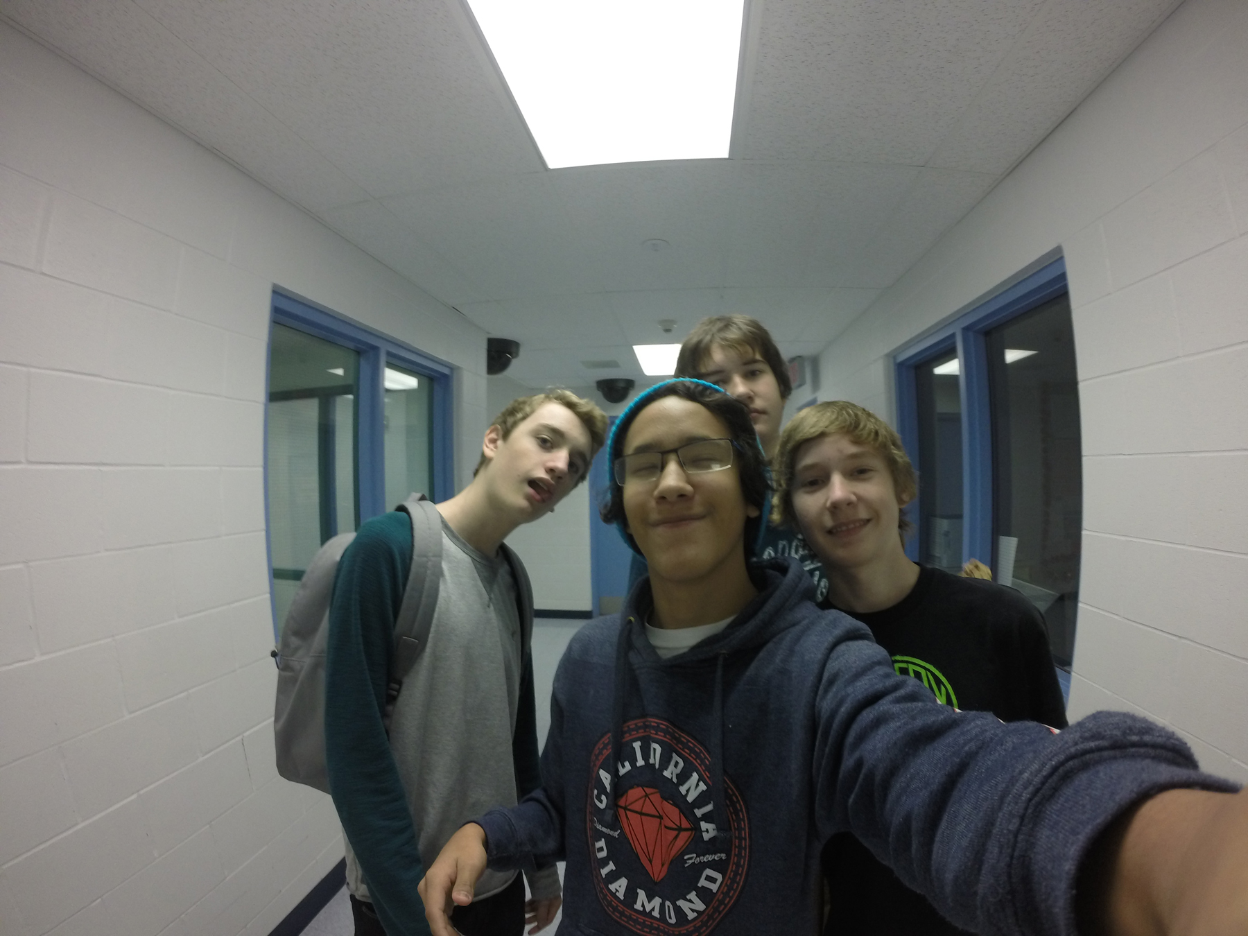 Grade 10 students getting familiarized with the gopro camera.  #selfie